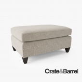 Crate and Barrel Durham Ottoman