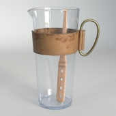 Carl Aubock Glass Pitcher with Leather collar