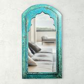 Vintage Moorish Wood Mirror