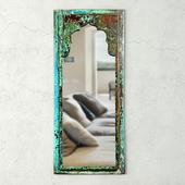 Vintage Wood Moorish Mirror