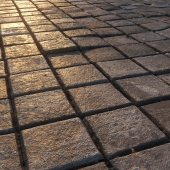 Square paving slabs