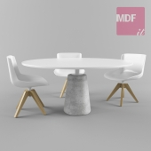 Table and chair MDF Italia