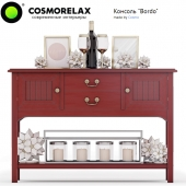 "Cosmorelax \ Console ""Bordo"" \ Candlestick (4520 L) \ Painting Bloomingville Happy"