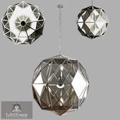 Glass Metal Cage Pendant