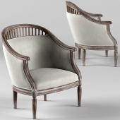 Curtis Ivory Rounded Ladder Armchair