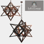 Ceiling light Star Vintage Iron