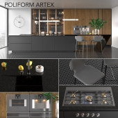 Kitchen Poliform Varenna Artex (vray GGX, corona PBR)