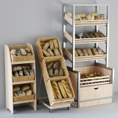 Shelvings with bread