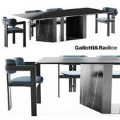 Gallotti & Radice 0414 chair | Platinum table
