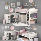 Кровать и стол для девочки от Lifetime