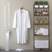 Bathrobe with bathrobe.H-1650mm.
