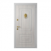 Entrance door with a knob-lever Lion