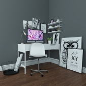 Scandinavian-style work desk