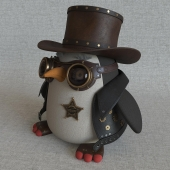 Steampunk penguin