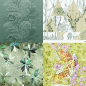 Wall&deco - Contemporary Wallpaper Pack 7