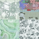 Wall&deco - Contemporary Wallpaper Pack 6