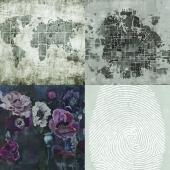 Wall&deco - Contemporary Wallpaper Pack 5