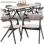 Keyko chair Maat table