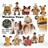 Toys made of wood