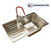Sink OMOIKIRI MIZU 78-1-R and mixer OMOIKIRI YATOMI BN-R