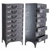 Iron chest of drawers - Andre Iron Cabinet