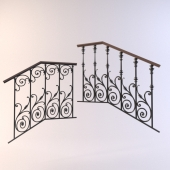 Forged fences for stairs