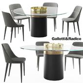 Gallotti&Radice Jackie chair | Haumea-T table