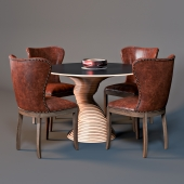 Chair Wingback and table Stack 50