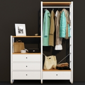 Outdoor wardrobe IKEA Elvary with clothes
