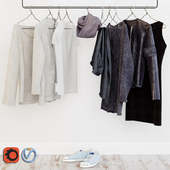Wardrobe in the Scandinavian interior