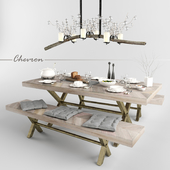 Chevron dining set