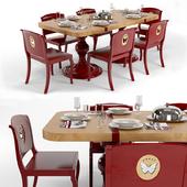 Обеденный стол и стулья фабрики MARCHETTI