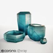 Guaxs Cucistic Vase Indigo Ocean Blue