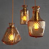 Restaurant Bar creative fashion bottle chandelier