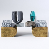 UNSETTLED CANTILEVER TABLE and Decor set