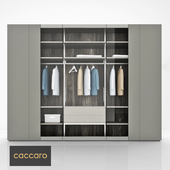 Caccaro ROOMY Wood and glass wardrobe