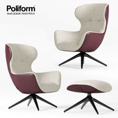 Poliform Mad Joker Armchair and Pouf