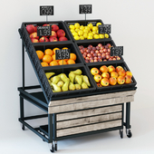 Rack with fruits