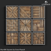 Uttermost Bryndle Rustic Wooden Squares by Grace Feyock