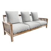 Sofa Synthesis in teak and WaProLace L 210