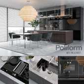 Kitchen Poliform Varenna My Planet (vray GGX, corona PBR)