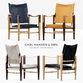 Kaare Klint Safari Chair set: 5 colors