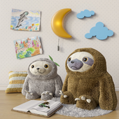 Toys and accessories for a children's room set 1