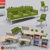 Сборник офисной мебели от бренда steelcase,