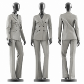 Woman Gray Suit