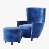 Santa and Cole MORAGAS Armchair and pouf