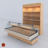 Showcase medium temperature Cryor HORUS and bread racks