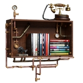 Steampunk Industrial Wall Shelf
