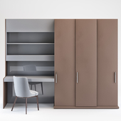 Cabinet with computer table