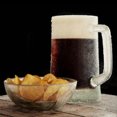 Beer with chips